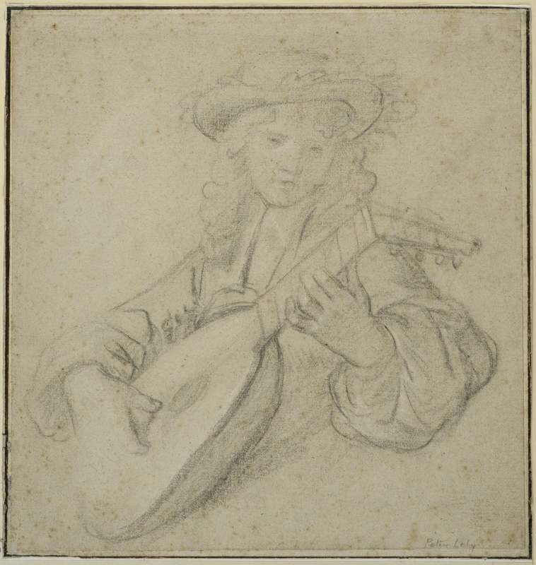 Young Boy Playing the Lute