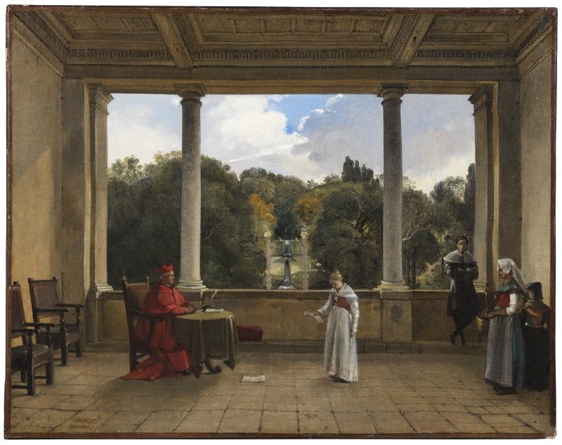 Audience with Cardinal Aldobrandini in the Loggia of the Villa Belvedere in Frascati