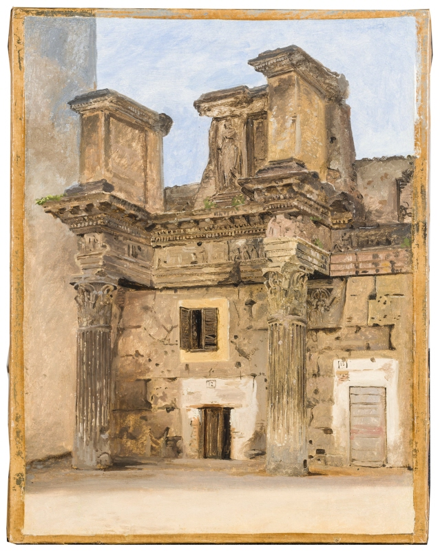 The Temple of Minerva on the Forum of Nerva in Rome