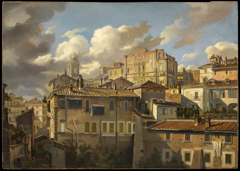 View of the Pincio and Palazzo Zuccari, Rome