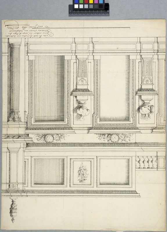 The Tuileries, Paris. Elevation of part of the garden facade, first floor