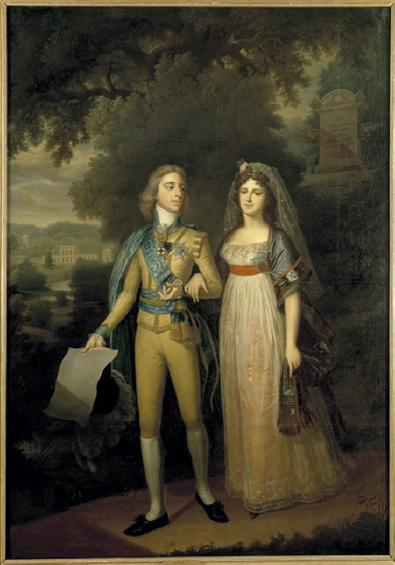 Gustav IV Adolf (1778-1837), king of Sweden, with his wife Fredrika Dorotea Vilhelmina (1781-1826), princess of Baden, queen of Sweden