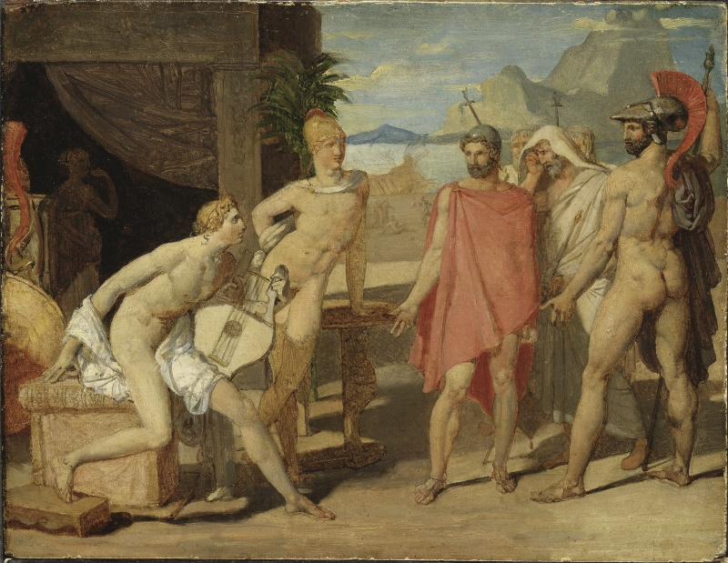 Achilles Receiving in his Tent the Envoys of Agamemnon