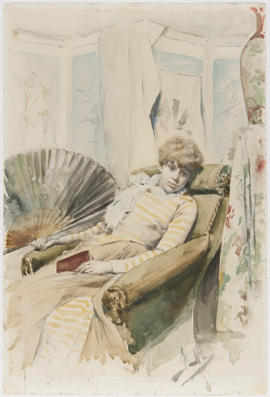 Woman in armchair