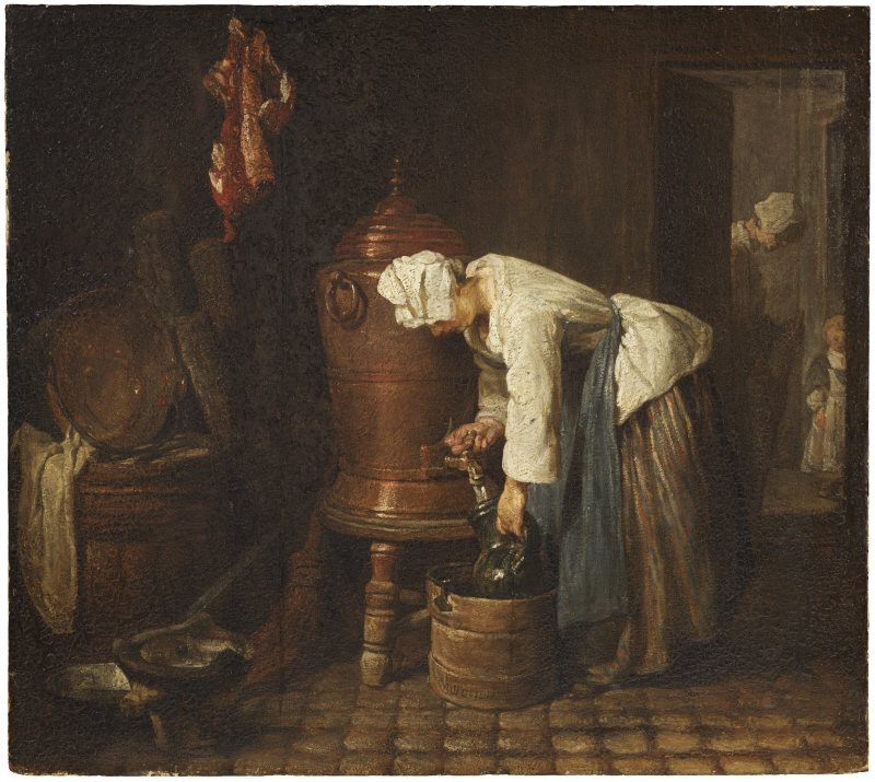 Woman Drawing Water from a Water Urn