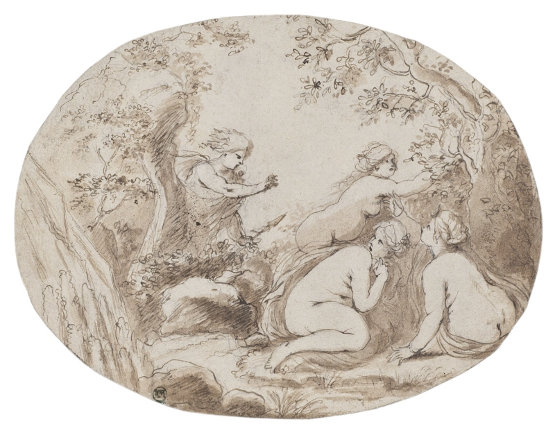 Hunter Surprising Three Nymphs / Diana and Actaeon?